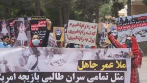 Pictures of SPA Protest to Condemn Crimes of Taliban
