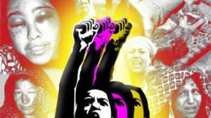 Sisters, only your consciousness, and unified struggle can break the chains of oppression!