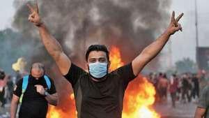 فوران خشم جوانان عراقی با خواست سرنگونی رژیم فاسد و پوشالی