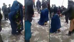 تخار ولایتی چاه آب تومنیده بیرعیال یاواییلرچه کلتکلنگن