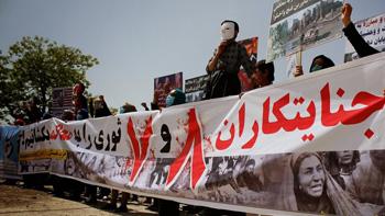 تجمع اعتراضی حزب همبستگی در تقبیح سیهروزهای ۸ و ۷ ثور