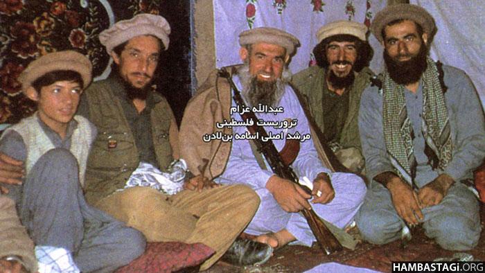 عبدالله عزام با احمدشاه مسعود. (عکس از مجله «الجهاد»)