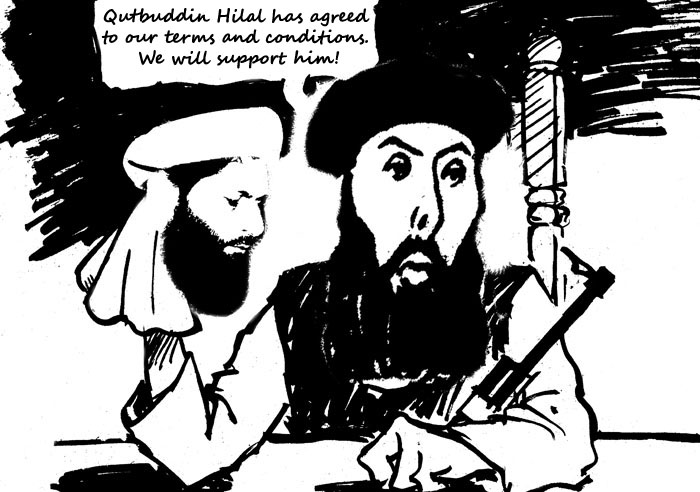 Gulbudding and Qutbuddin Cartoon
