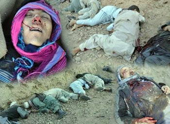 Victims of Ghor massacre by brutal Taliban