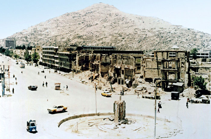 Kabul destroyed city in 1992