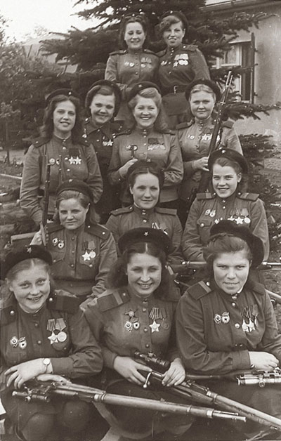 USSR women snipers in 1945