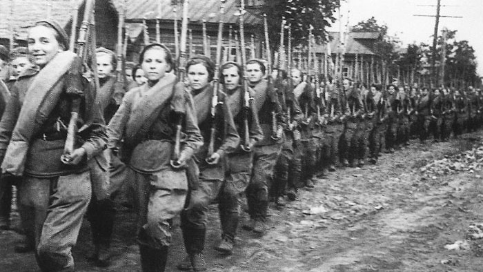 USSR women snipers in WW2