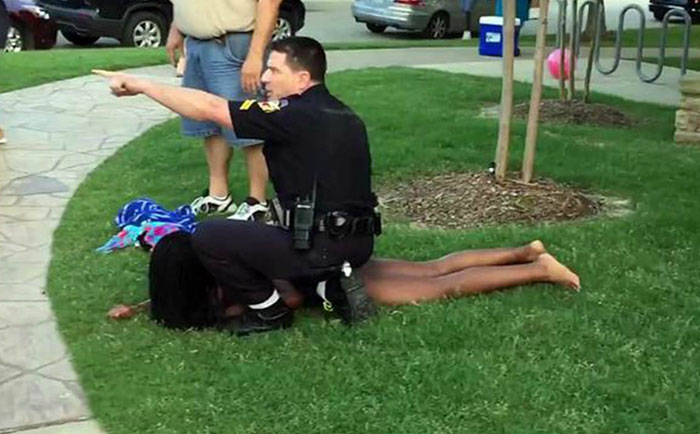 American police mistreatment in Texas