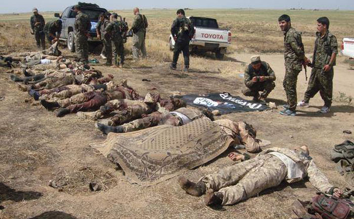 isis troops killed by rojava fighters