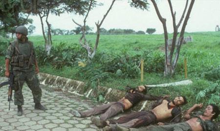 گروهی از درندگان «کانترا» که جهت سرکوب ساندنیستها توسط دولت امریکا ساخته شد